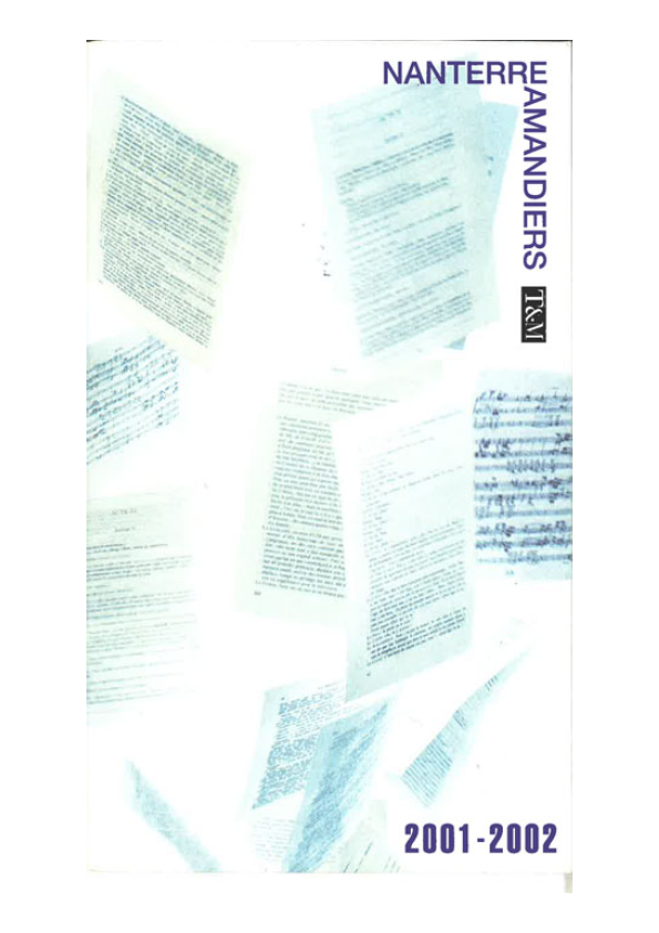 Saison 2001/2002 - Nanterre-Amandiers