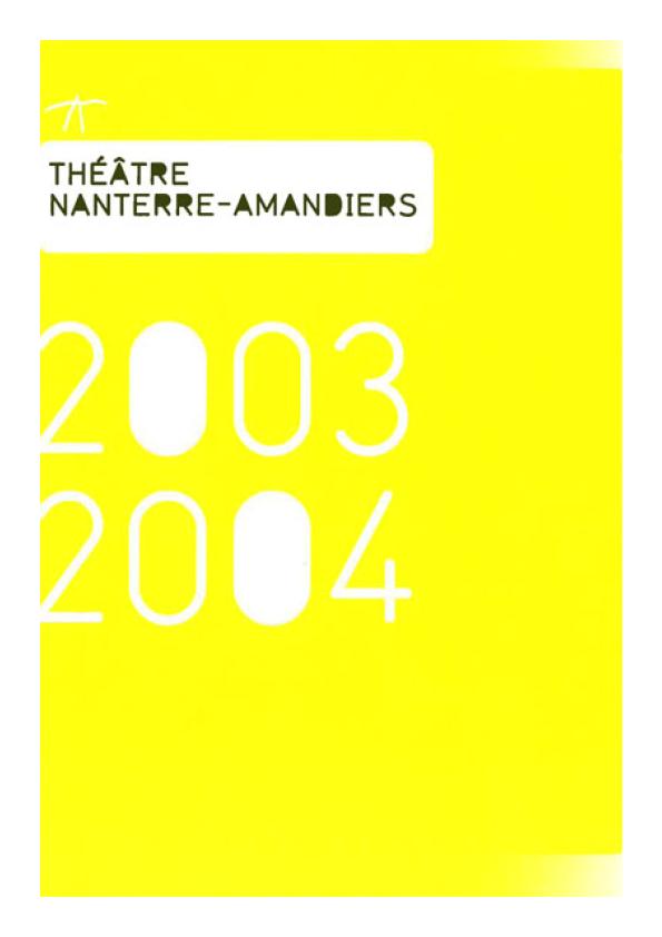 Saison 2003/2004 - Nanterre-Amandiers