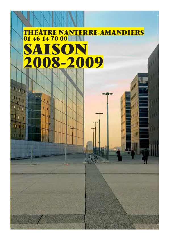 Saison 2008/2009 - Nanterre-Amandiers