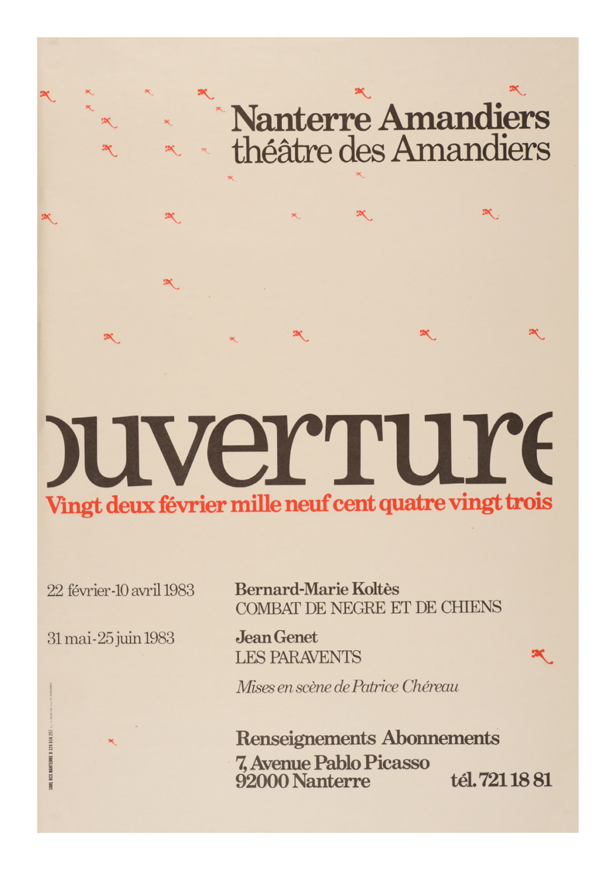 Saison 1982/1983 - Nanterre-Amandiers