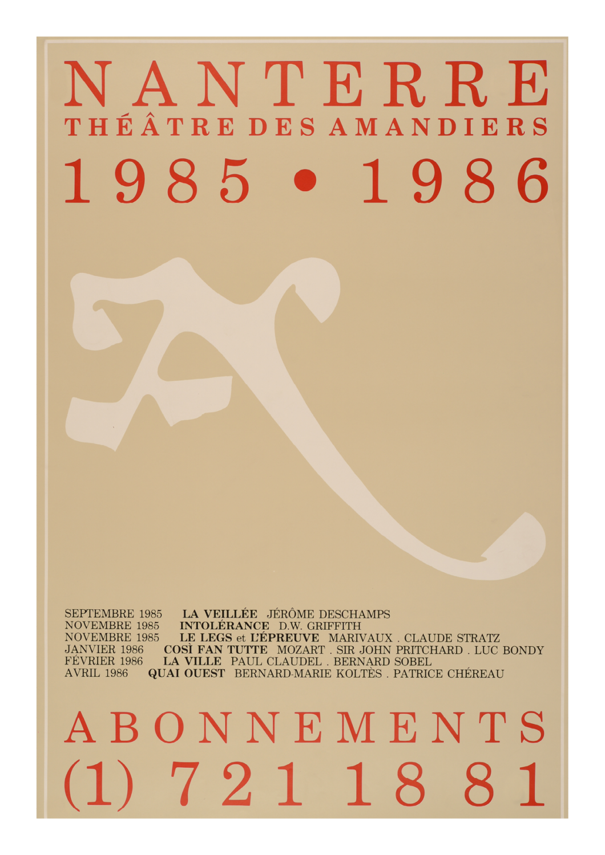 Saison 1985/1986 - Nanterre-Amandiers