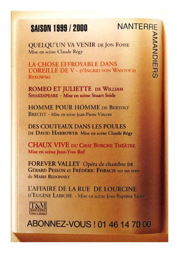Saison 1999/2000 - Nanterre-Amandiers