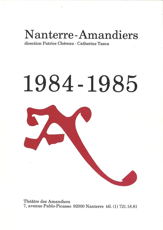 Saison 1984/1985 - Nanterre-Amandiers